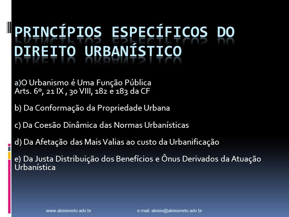 Princípios ESPECÍFICOS do Direito Urbanístico