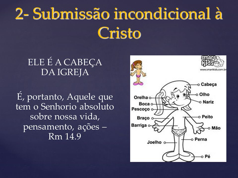 2- Submissão incondicional à Cristo