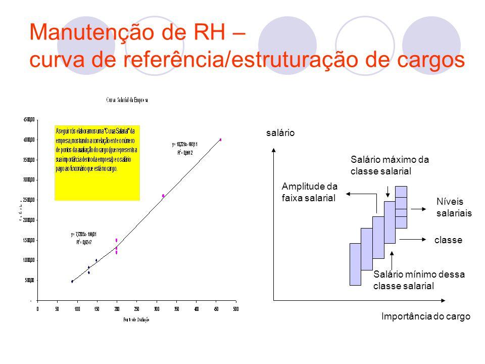 Manutenção de RH – curva de referência/estruturação de cargos
