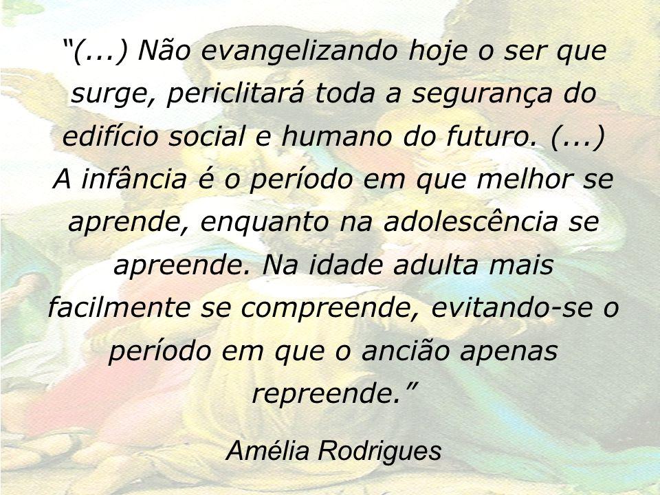 (...) Não evangelizando hoje o ser que surge, periclitará toda a segurança do edifício social e humano do futuro. (...)