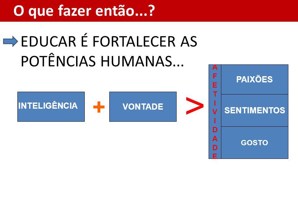 > + EDUCAR É FORTALECER AS POTÊNCIAS HUMANAS... PAIXÕES VONTADE