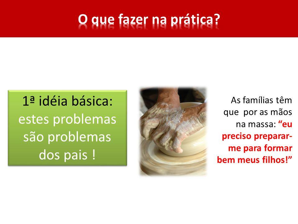 1ª idéia básica: estes problemas são problemas dos pais !
