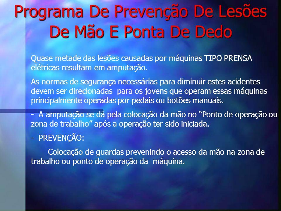 Programa De Prevenção De Lesões De Mão E Ponta De Dedo