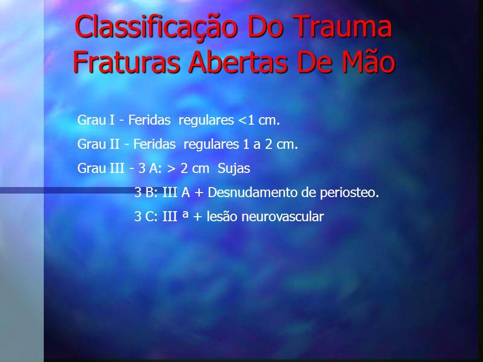 Classificação Do Trauma Fraturas Abertas De Mão