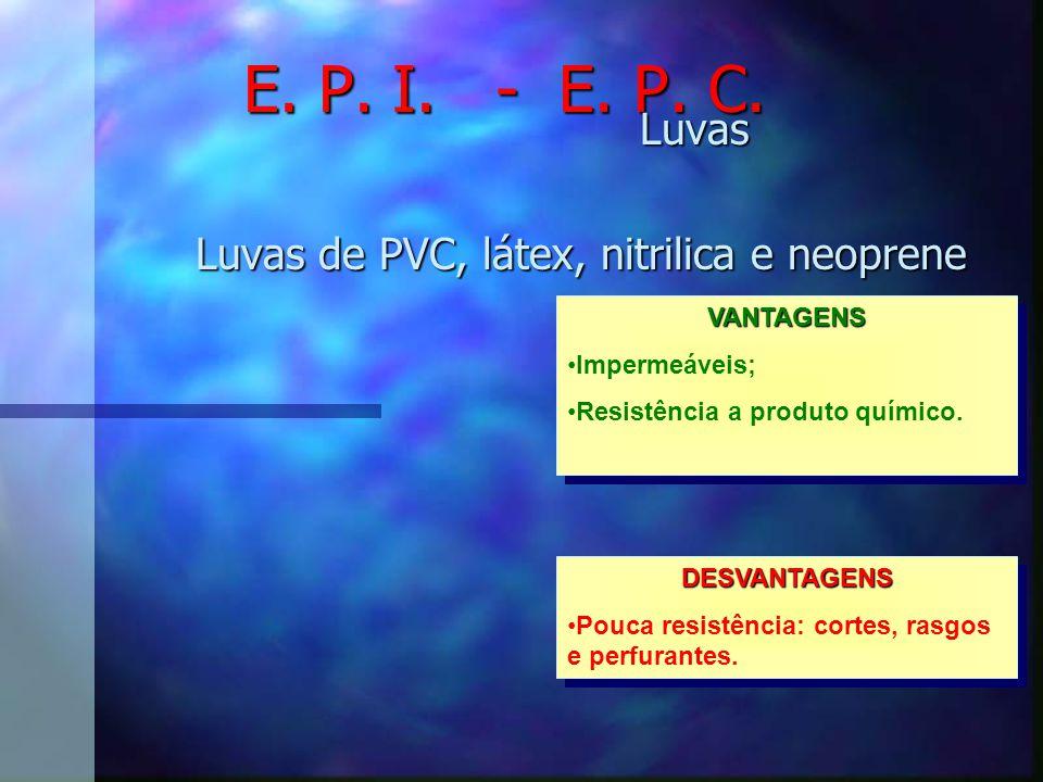 Luvas Luvas de PVC, látex, nitrilica e neoprene