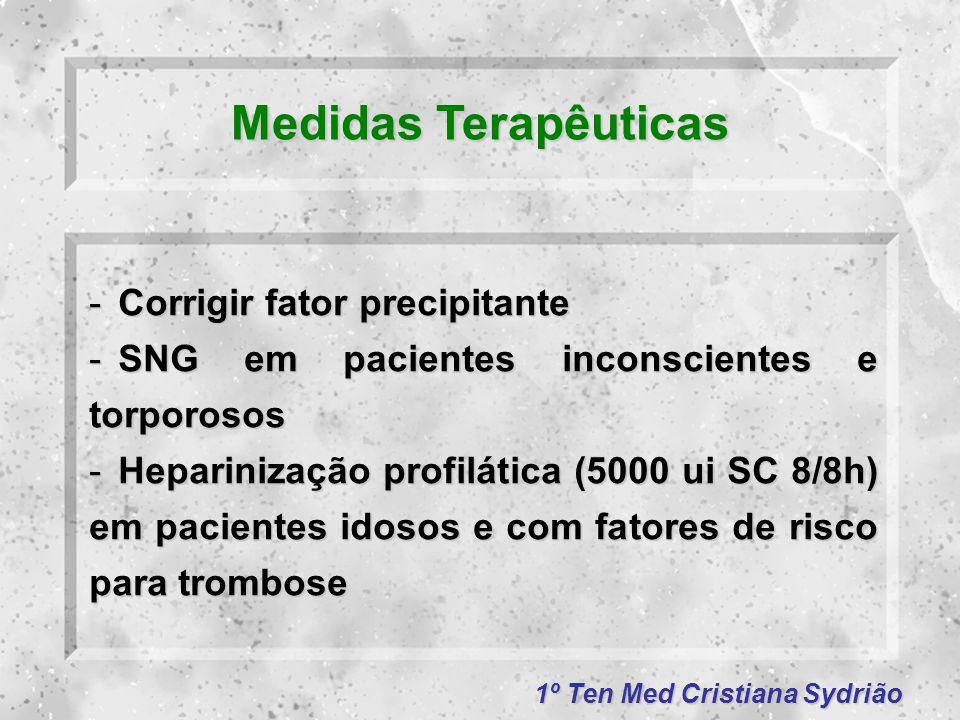 Medidas Terapêuticas Corrigir fator precipitante