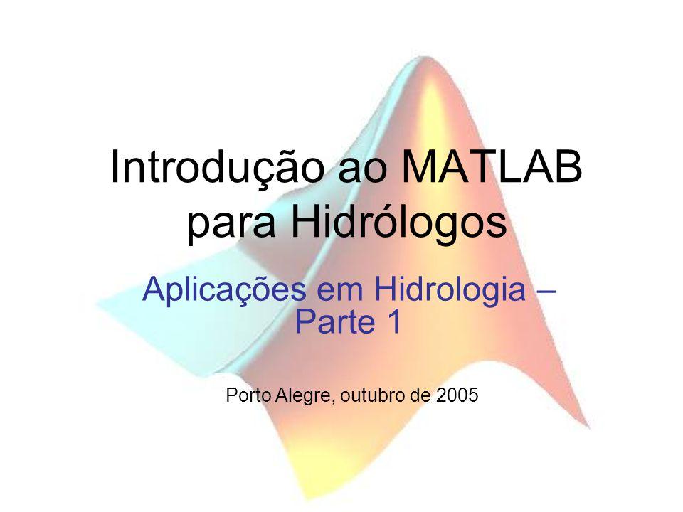 Introdução ao MATLAB para Hidrólogos