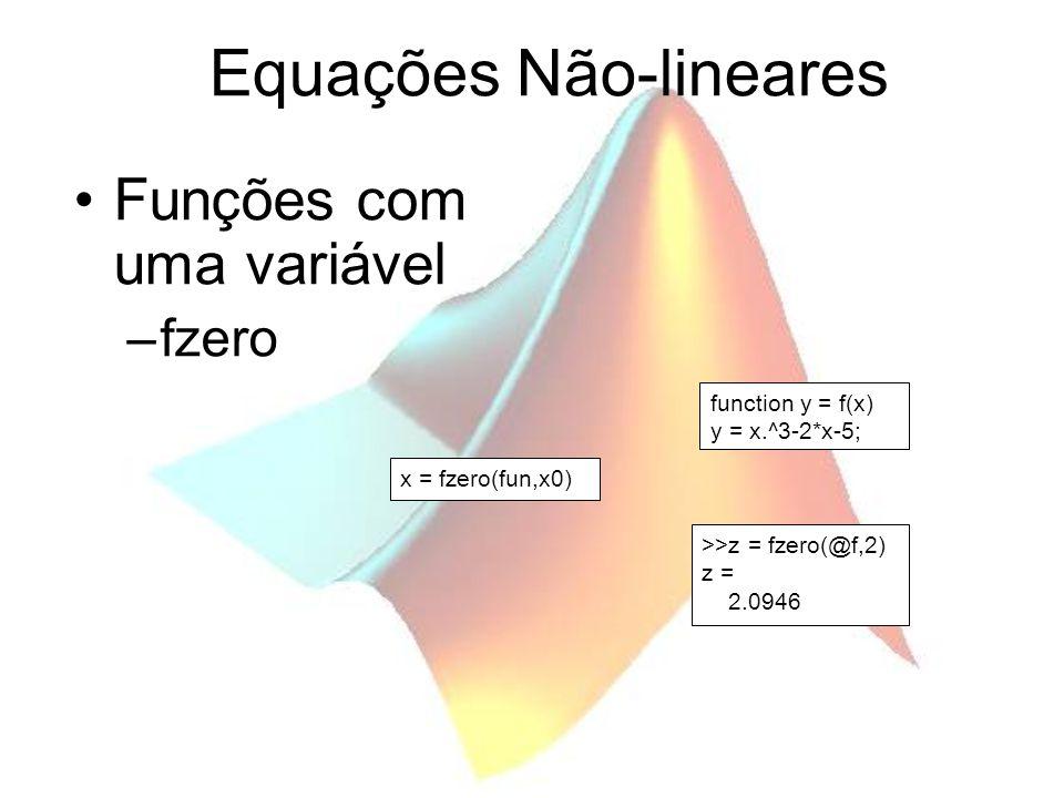 Equações Não-lineares