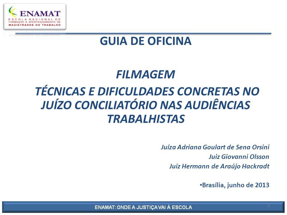GUIA DE OFICINA FILMAGEM