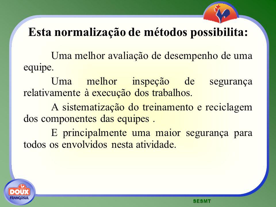 Esta normalização de métodos possibilita: