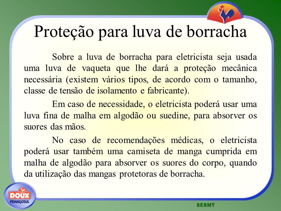 Proteção para luva de borracha