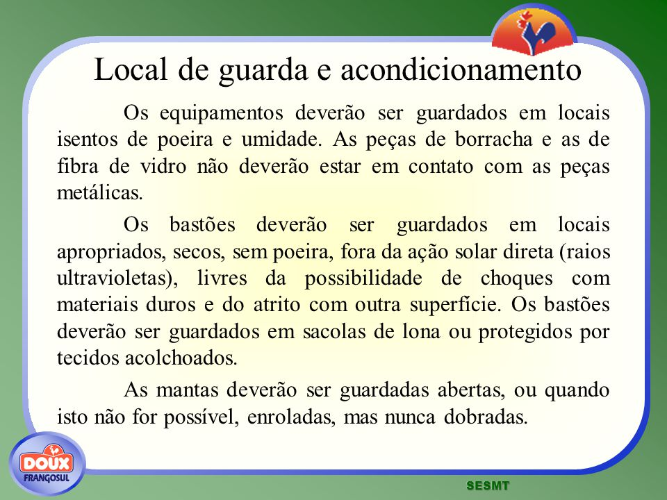 Local de guarda e acondicionamento