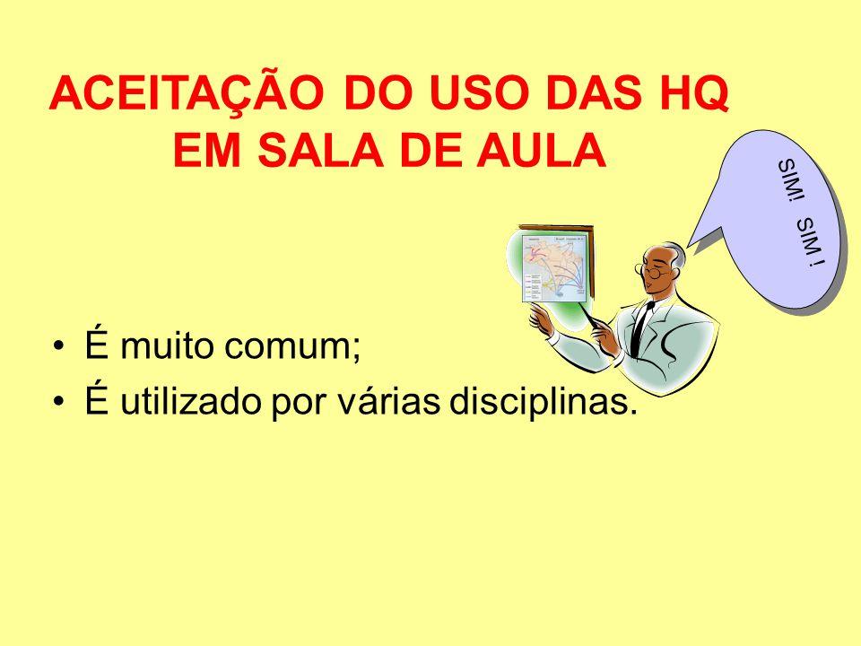 ACEITAÇÃO DO USO DAS HQ EM SALA DE AULA