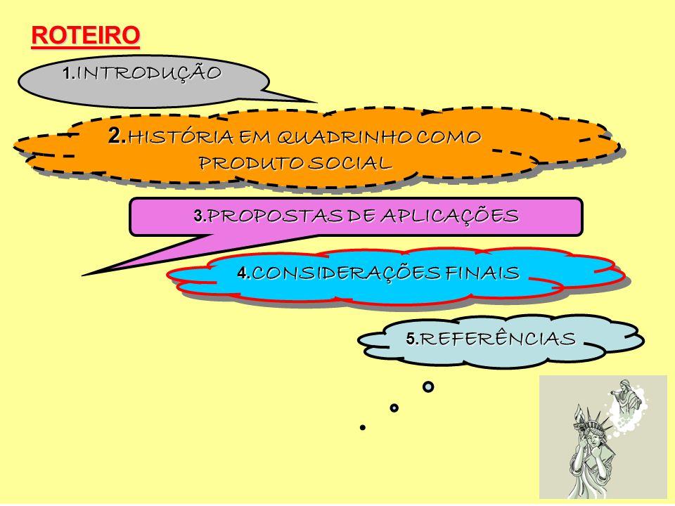 2.HISTÓRIA EM QUADRINHO COMO PRODUTO SOCIAL 3.PROPOSTAS DE APLICAÇÕES