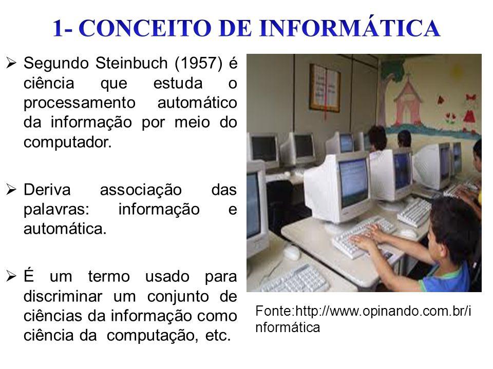 Deriva associação das palavras: informação e automática.