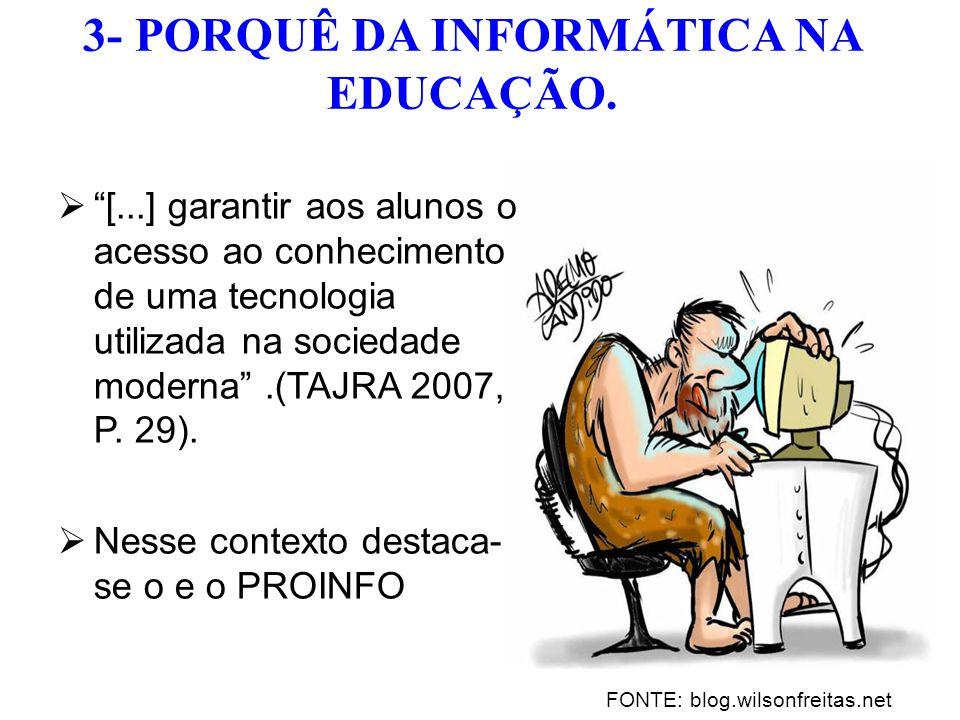 3- PORQUÊ DA INFORMÁTICA NA EDUCAÇÃO.