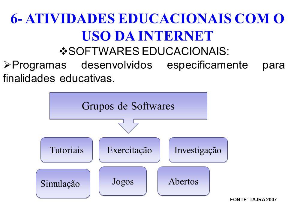 6- ATIVIDADES EDUCACIONAIS COM O USO DA INTERNET