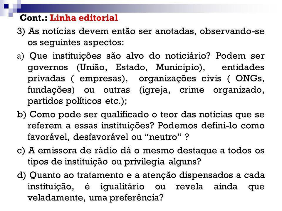 Cont.: Linha editorial