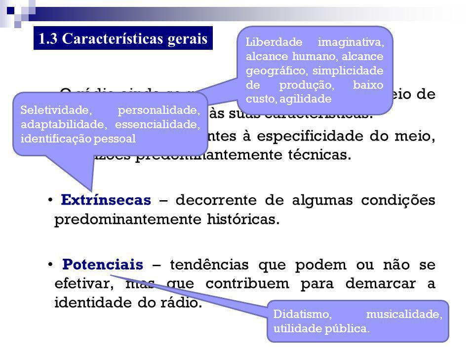 1.3 Características gerais