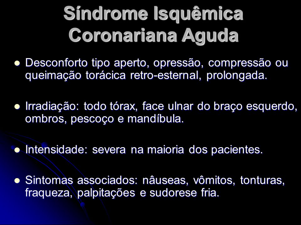 Síndrome Isquêmica Coronariana Aguda