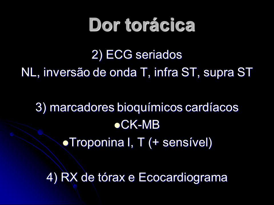 Dor torácica 2) ECG seriados