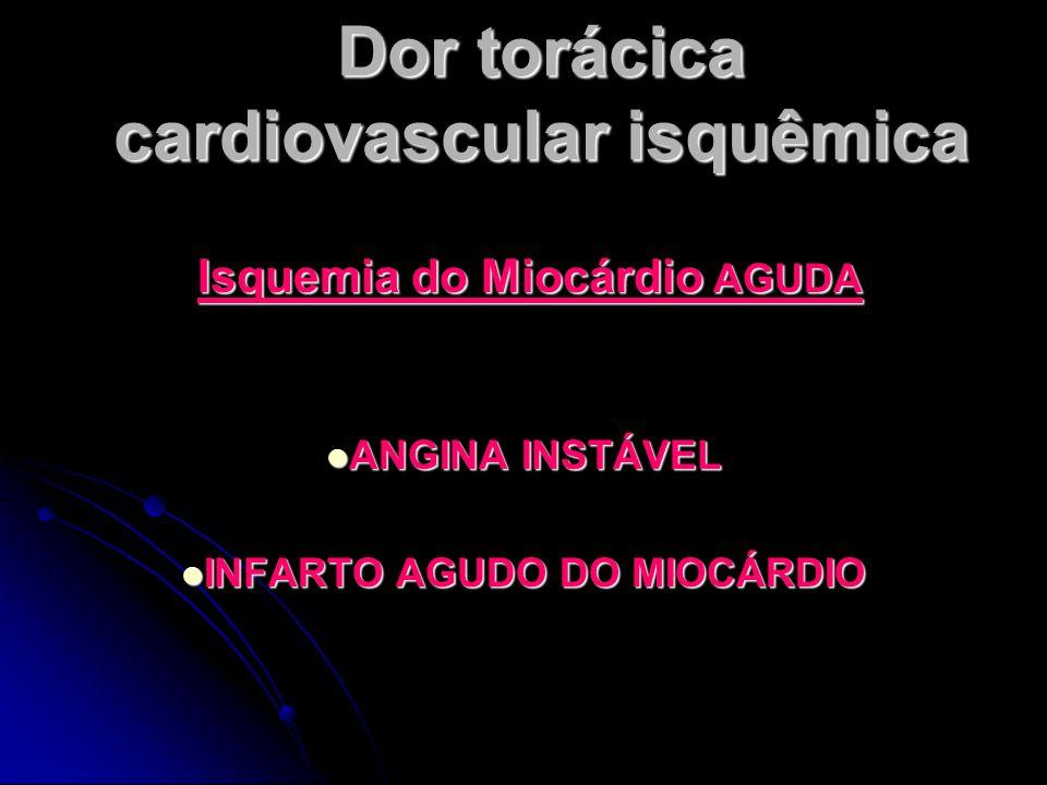 Dor torácica cardiovascular isquêmica