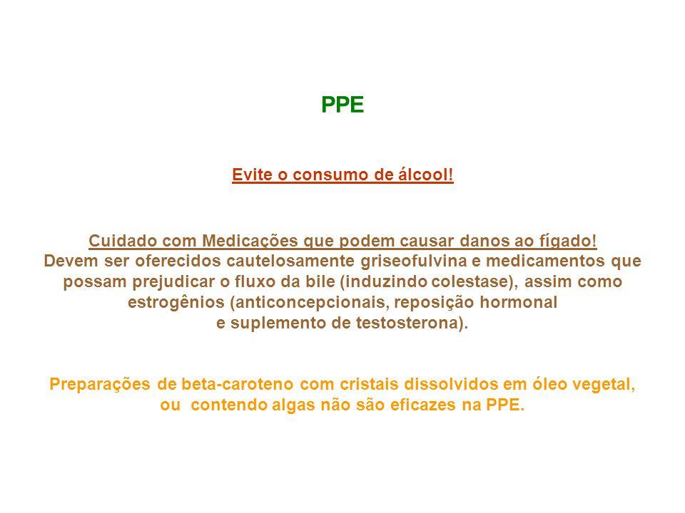 PPE Evite o consumo de álcool