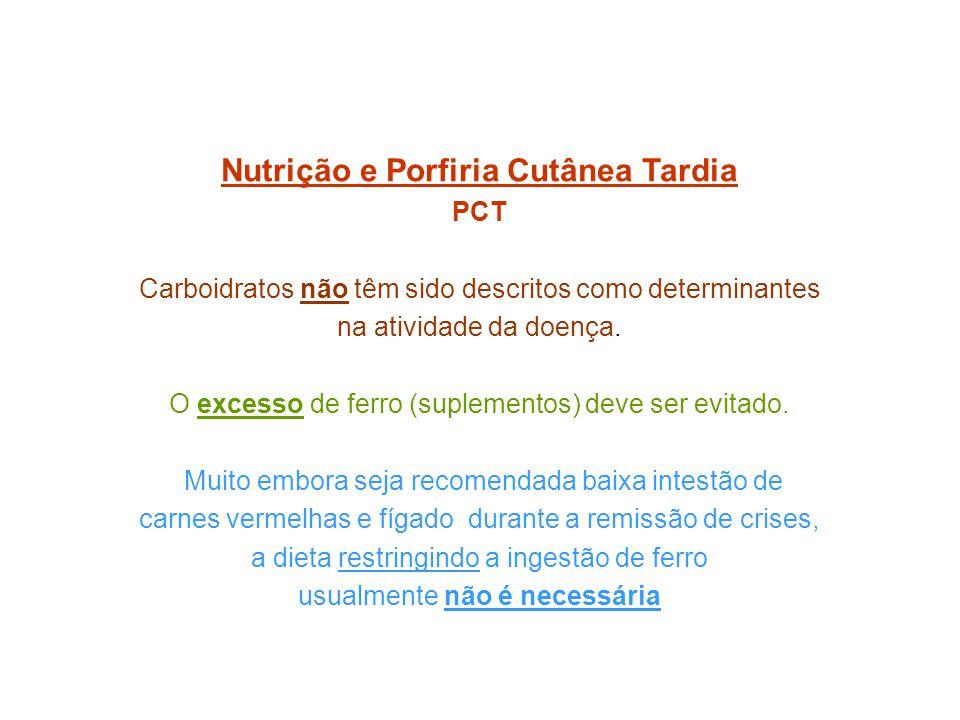 Nutrição e Porfiria Cutânea Tardia