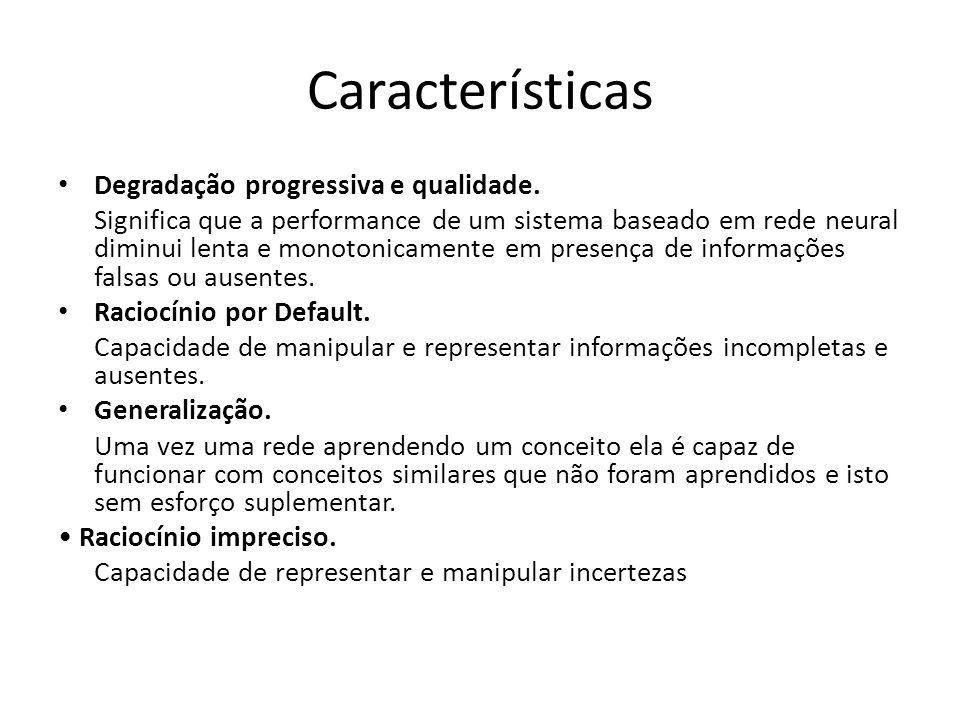 Características Degradação progressiva e qualidade.