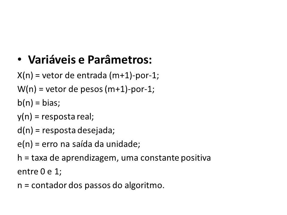 Variáveis e Parâmetros: