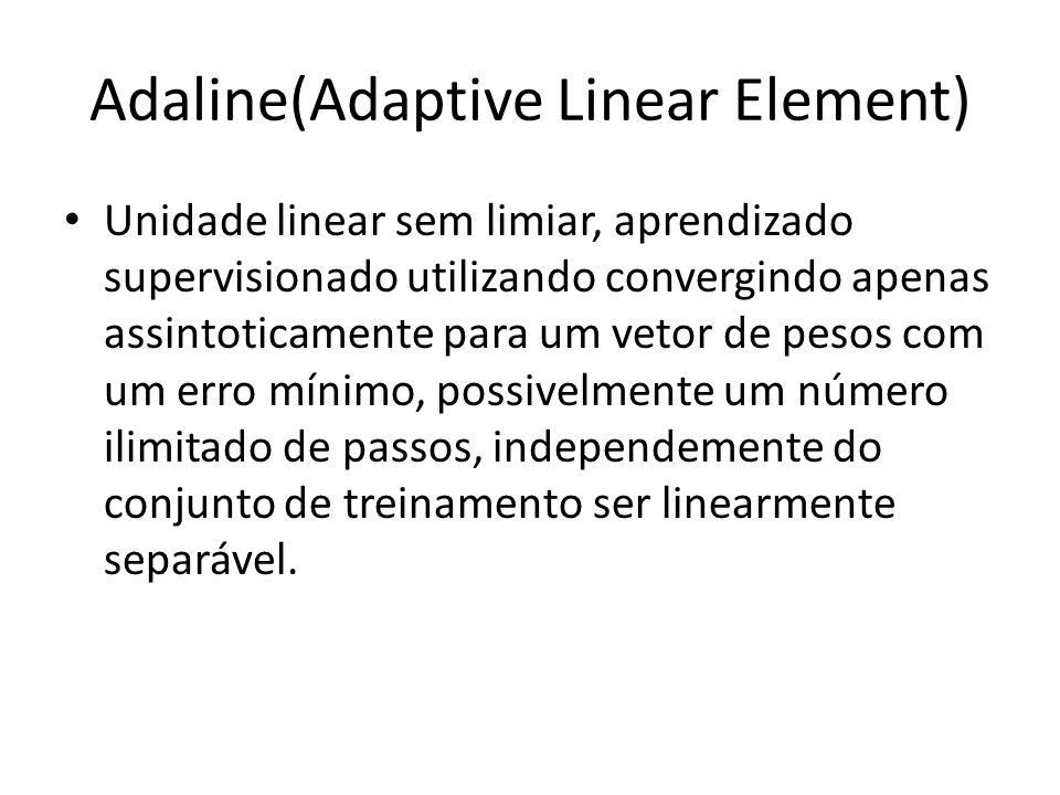 Adaline(Adaptive Linear Element)