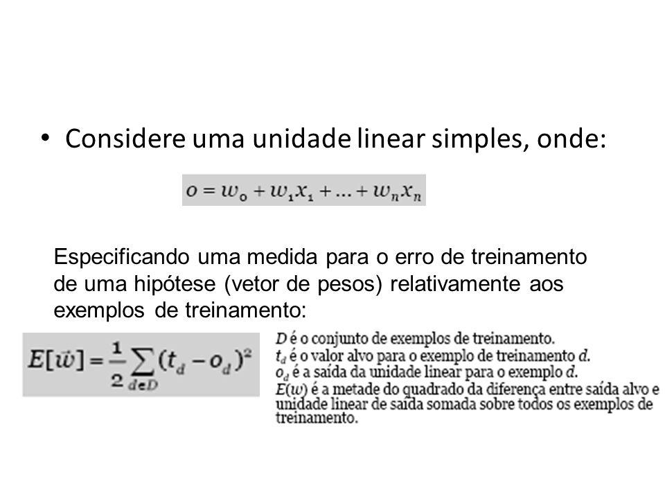 Considere uma unidade linear simples, onde: