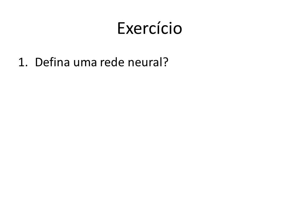 Exercício Defina uma rede neural