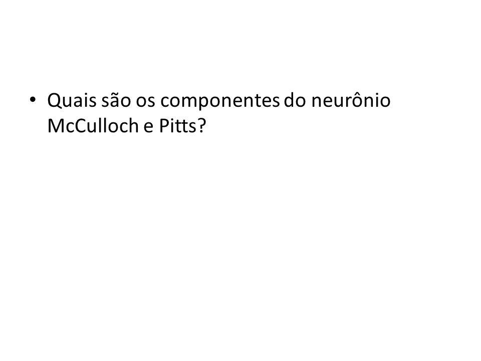 Quais são os componentes do neurônio McCulloch e Pitts