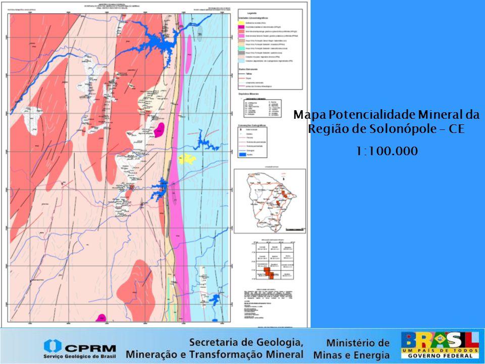 Mapa Potencialidade Mineral da Região de Solonópole – CE