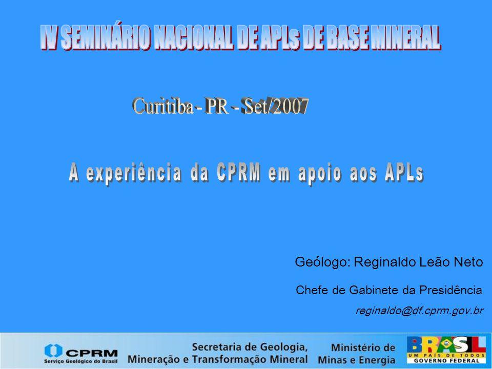 IV SEMINÁRIO NACIONAL DE APLs DE BASE MINERAL