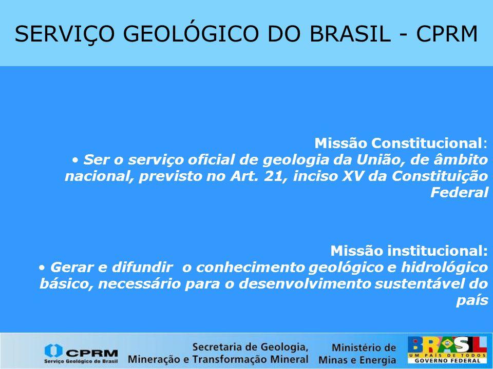 SERVIÇO GEOLÓGICO DO BRASIL - CPRM