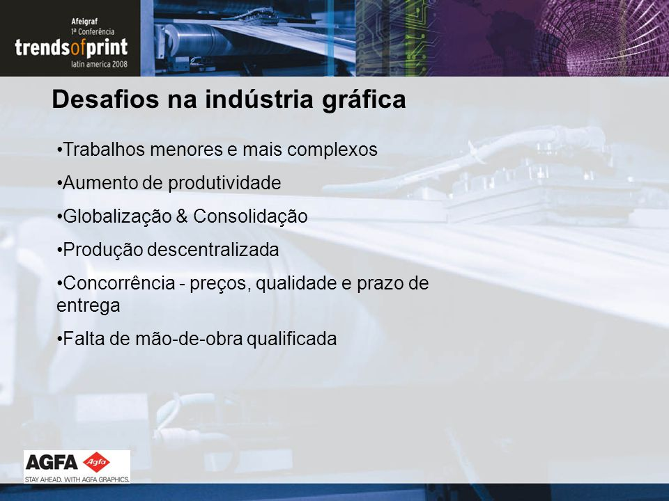 Desafios na indústria gráfica