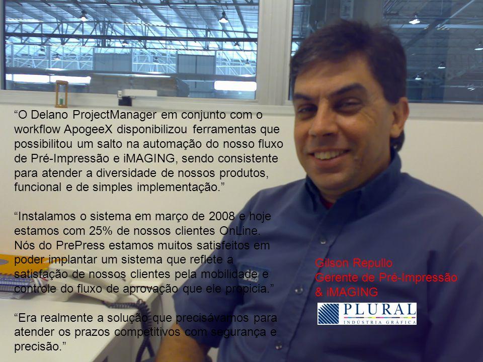 O Delano ProjectManager em conjunto com o workflow ApogeeX disponibilizou ferramentas que possibilitou um salto na automação do nosso fluxo de Pré-Impressão e iMAGING, sendo consistente para atender a diversidade de nossos produtos, funcional e de simples implementação.