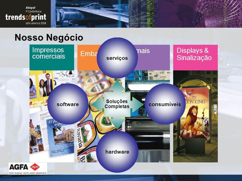 Nosso Negócio Impressos comerciais Displays & Sinalização Embalagens