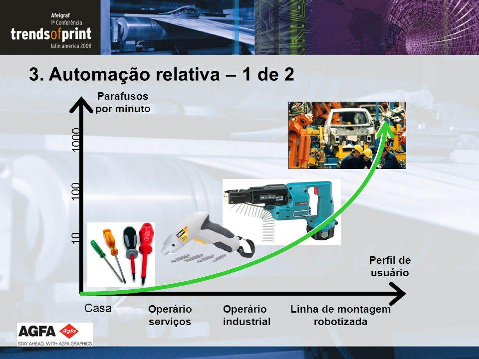 Linha de montagem robotizada