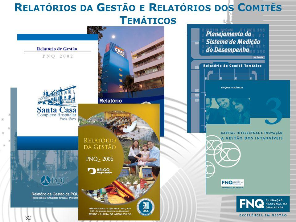 RELATÓRIOS DA GESTÃO E RELATÓRIOS DOS COMITÊS TEMÁTICOS