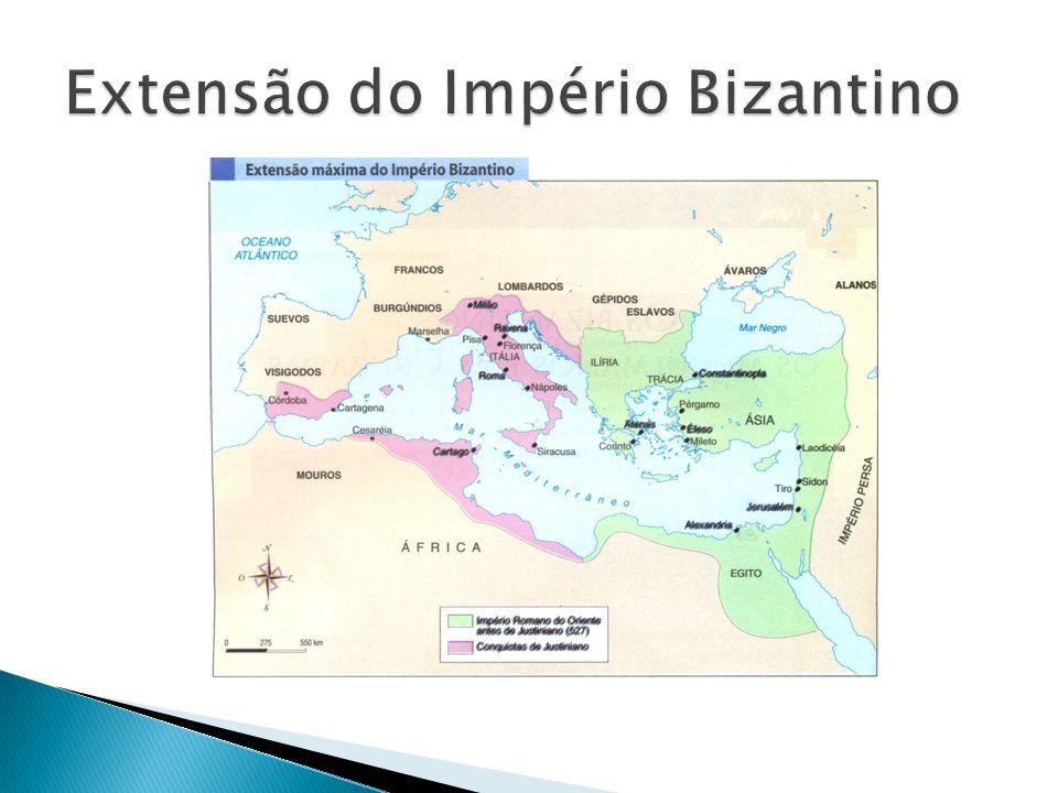 Extensão do Império Bizantino