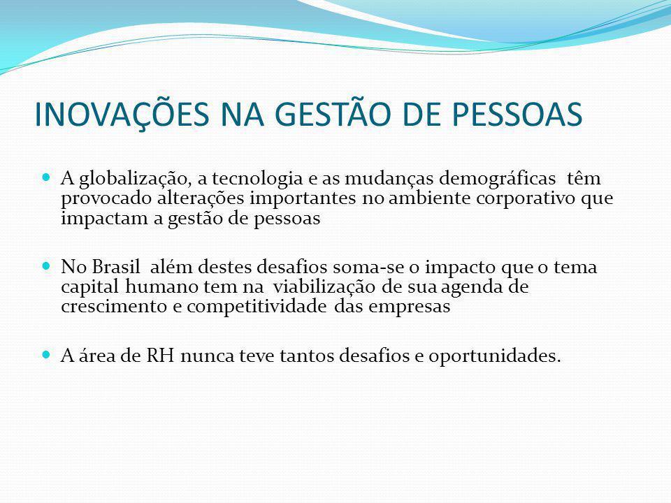 INOVAÇÕES NA GESTÃO DE PESSOAS