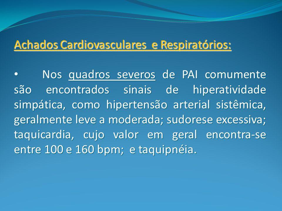 Achados Cardiovasculares e Respiratórios: