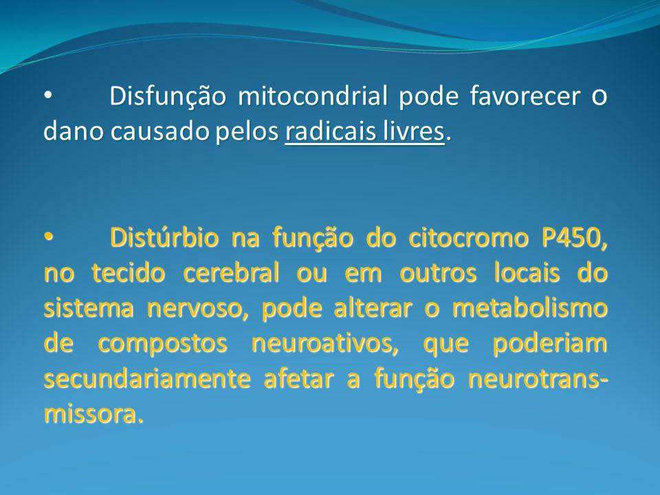 Disfunção mitocondrial pode favorecer o dano causado pelos radicais livres.