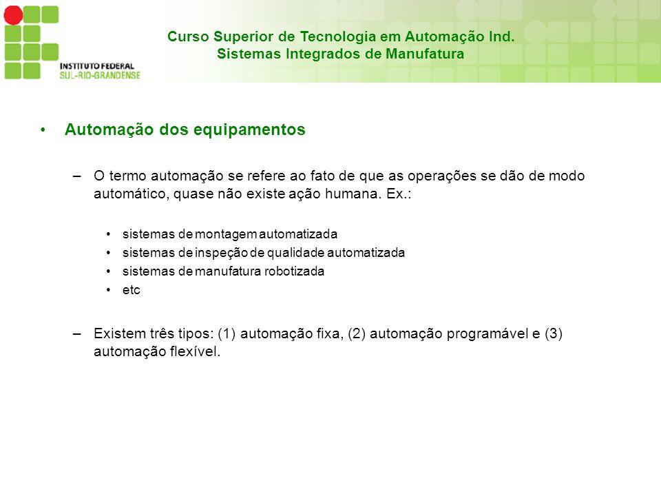 Automação dos equipamentos