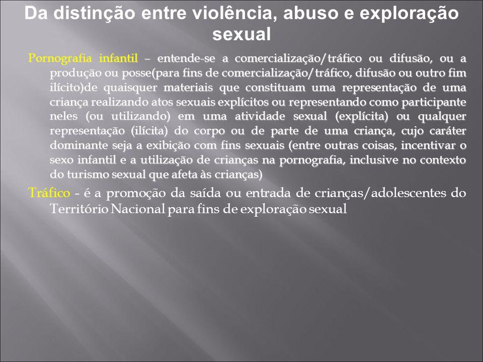 Da distinção entre violência, abuso e exploração sexual