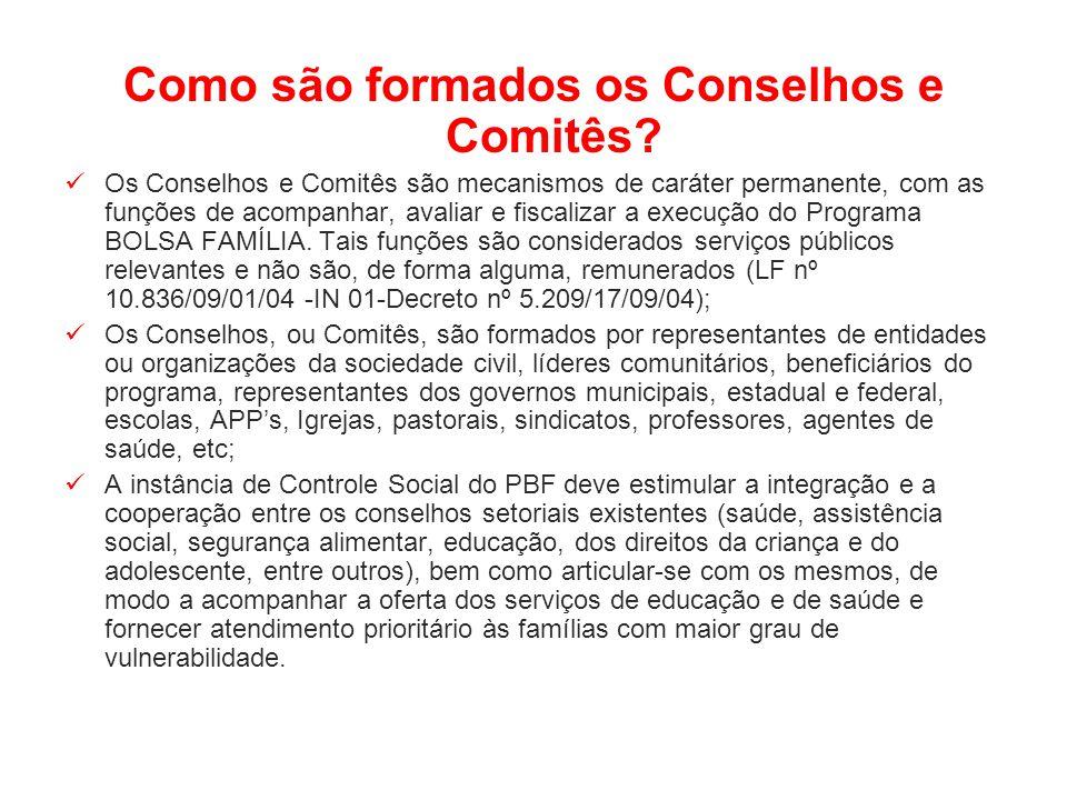 Como são formados os Conselhos e Comitês