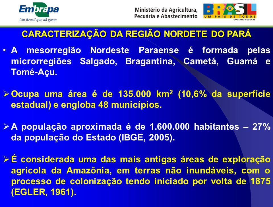 CARACTERIZAÇÃO DA REGIÃO NORDETE DO PARÁ